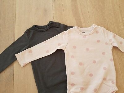 🌟🌟🌟 2x LA- Body in Gr. 80  H&M  Rosa & Anthrazit  NEU!
