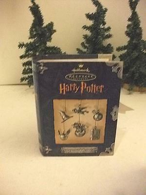 2000 Hogwarts Charms Hallmark Ornament Movie Harry Potter Pewter Qxe4404