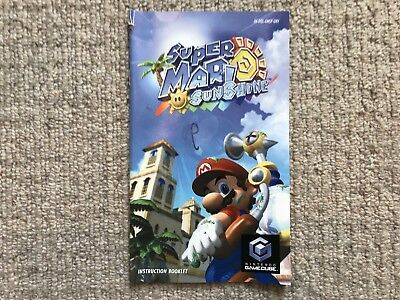 MANUAL ONLY Mario Sunshine - Nintendo GameCube Instruction Manual Only