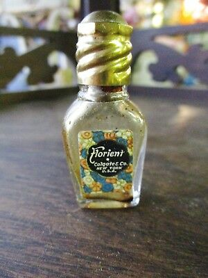 Colgate & Co Art Deco Glass Perfume Bottle W/ Paper Label Florient New York