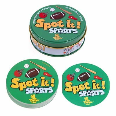 """2018 NEW card game """"SPOT IT SPORTS"""" for kids WITH METAL BOX High Quality Paper"""