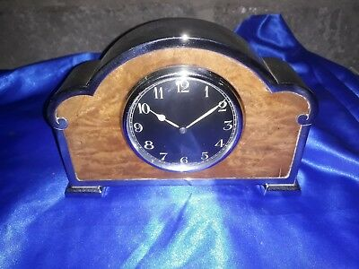 Vintage ART DECO MANTEL CLOCK, ABEC Platform Movement, 8 Day, GOOD WORKING