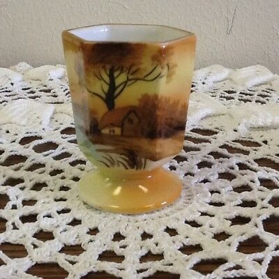 "Noritake ""tree In The Meadow"" Toothpick Holder Made In Japan"