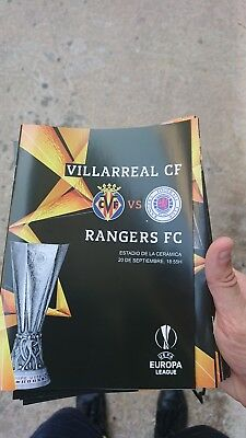 2018 Europa League VILLARREAL V Rangers