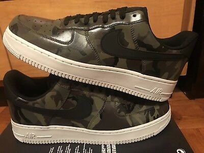 Nike Air Force 1 Camo Military Olive Mens Size 10.5 Black Green 823511 201 Rare