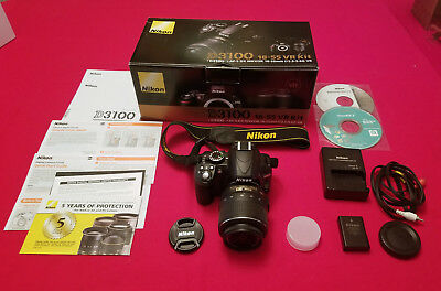 US Model Nikon D3100 14.2MP Digital SLR w/Nikon AF-S DX VR 18-55mm Lens - Mint!