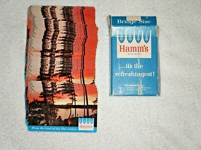 Hamm's Beer playing Cards Bridge Size No Bears 1960-63 52 cards plus 2 jokers