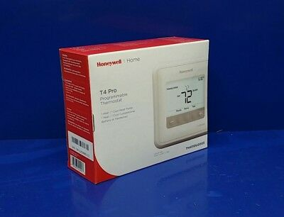 Honeywell TH4110U2005 T4 Pro Programmable Thermostat 1H/1C Cool White Backlight