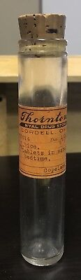 1935 Pharmacy Vial Cordell, Oklahoma - Antique / Vintage