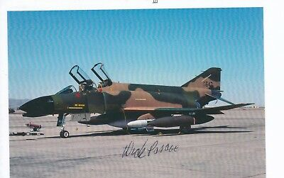 Major General With 2 Vietnam M I G Kills, Signed F-4 Pic
