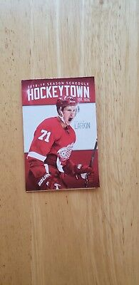 2018/19  Detroit Red Wings  Pocket Schedule New