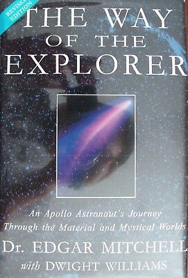 "Edgar Mitchell ""The Way of The Explorer"" SIGNED HC Book w/COA NASA Astronaut"