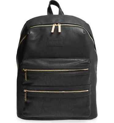 THE HONEST COMPANY City Faux Leather Diaper Backpack  - Black - Pre Owned