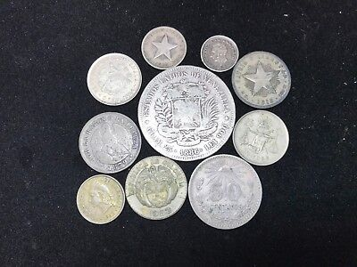 T2: Lot of Silver World Coins. North, Central & S. America + Nearby Islands