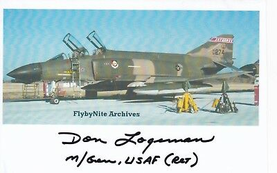 F-4 Vietnam Pilot Downed M I G & Earned Silver Star, Signed Image Of His Phantom