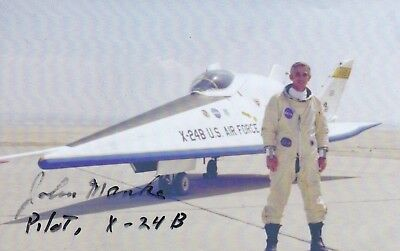 Lifting Body Test Pilot, Signature On Image In Front Of X-24.