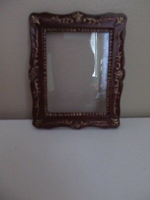 Dollhouse Miniature 1:12 Bespaq  Mahogany Wood Picture Wall Frame #04092 MHG
