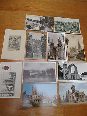 11 Vintage postcard collection lot of Religious theme Buildings - 1 Tuck unused