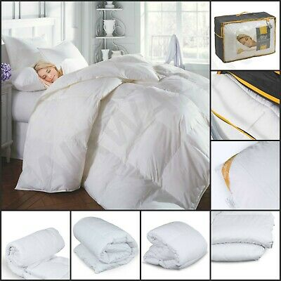 duck feather down quilt soft duvet luxury bedding all sizes 13.5 tog