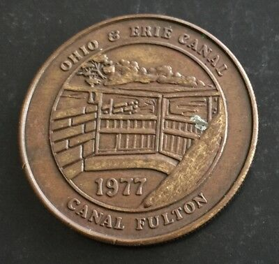 Canal Fulton Ohio & Erie Canal Cleveland to Akron Transit Related Token Medal