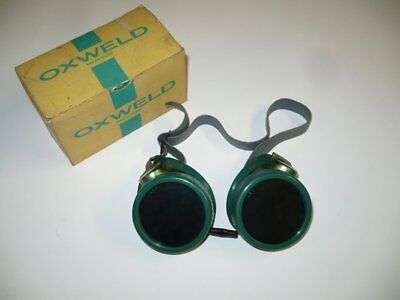 Vintage OXWELD #21N Welding Safety Goggles Shade AA6 Lenses - New in box