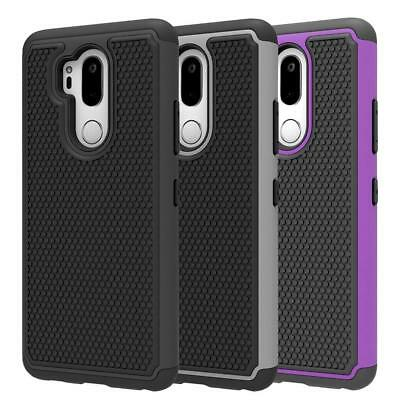 Fits LG G7 ThinQ Case Rugged Impact Hybrid Dual Layer Shockproof Thin Hard Cover