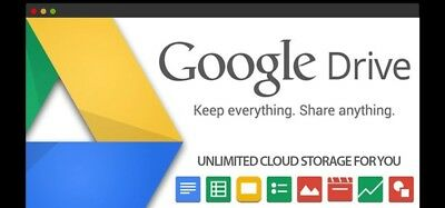 Google Drive UNLIMITED LIFETIME Cloud Storage - CUSTOM YOUR NAME