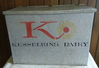 Vintage Aluminum Kesselring Dairy Delivery Porch Milk Box