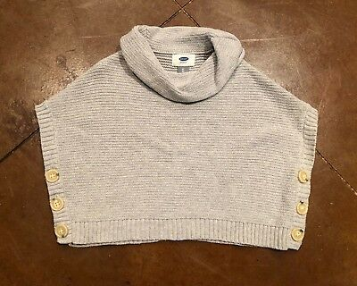 Toddler Girls Old Navy Sweater Poncho, 2T, FREE SHIPPING