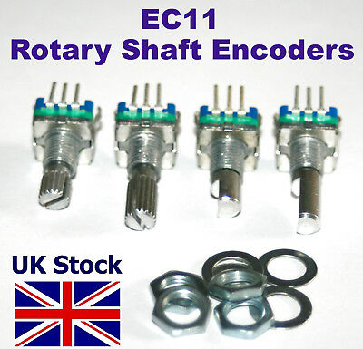 Rotary Shaft Encoder EC11 ,  with push switch, 5 pin digital potentiometer - UK