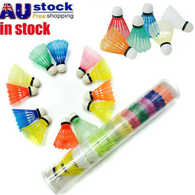 24Pcs Colorful Plastic Badminton Ball Shuttlecock Game Match Training Gear AU