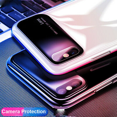 Shockproof Tempered Glass+PC Hybrid Armor Case for iPhone XS Max/XR/X 7 8 Cover