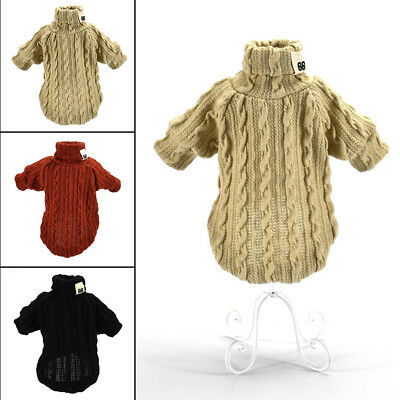 Warm Hand Knit Dogs Sweaters Chihuahua Clothes Soft for Small Dog Pet Cats Puppy