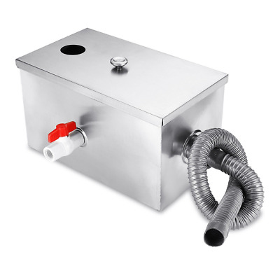 30x20x20cm Commercial Kitchen Grease Trap Stainless Steel Interceptor Filter Kit