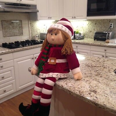 Christmas Elf Shelf Sitter - Girl