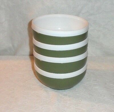 Set Of 4 Green Royal Satin Plastic Therm-O-Ware Snack Cereal Bowls