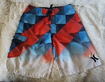 Hurley Mens Board shorts Size 29 - red white & blue in EUC