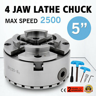 "4 Four 5"" Jaw Self Centering Lathe Chuck M33 Mount Reversible Hardened Wood"