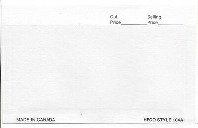 HECO Stamp Dealer Cards 104A 4 7/8 x 3 1/4 White Collection 1000 Display Holder
