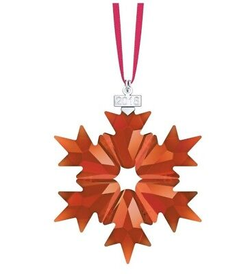 Swarovski Holiday RED Ornament 2018 Annual Edition # 5460487 New  Christmas