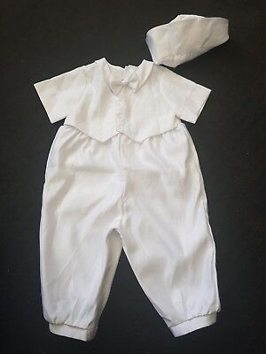 Bnwot White Baby Boy Christening Outfit Size 1-CLOSING DOWN SALE WITH FREE POSTA
