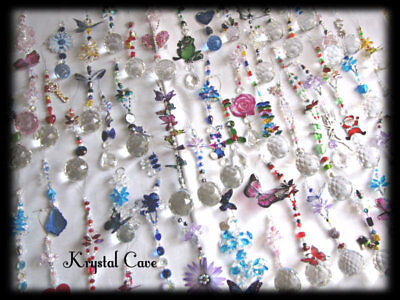BULK PACK OF 10 MIXED CRYSTAL SUNCATCHERS -~~((Plus FREE GIFT))