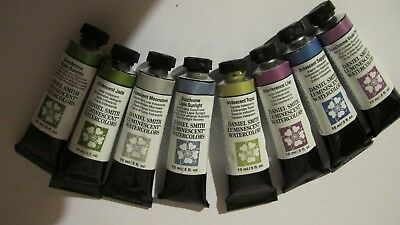 DANIEL SMITH 8 watercolours luminescent duochrome. opened but as new