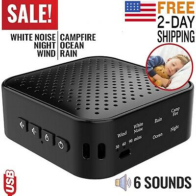 Sound Machine White Noise Therapy Baby Sleep Easy Conditioner Generator Relax