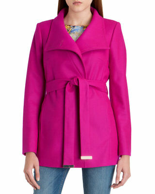 f6d299cad59f3e Ted Baker Chessy Ladies short wrap coat Deep Pink size 2 - Brand New Tags  etc
