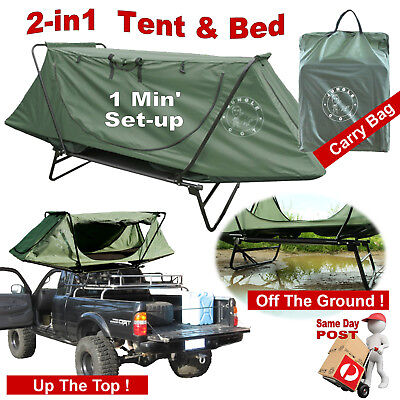 Camping Outdoor Single Folding Tent Cot Swag Bed Tent One Minute Set-Up