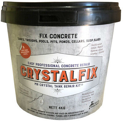 Mr Crystal Crystalfix Easy Concrete water tank pond fountain repair NON TOXIC 4k