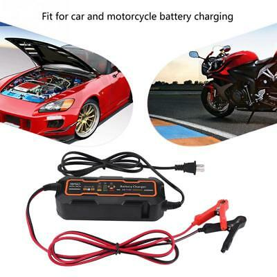 12V/6V 5A Car Automatic Smart Battery Charger Acid Batteries For Auto Motorcycle