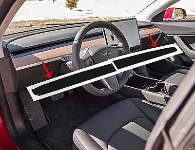 Topfit Tesla Model 3 Interior Dashboard Wood Wrap Stickers (Matte Black)