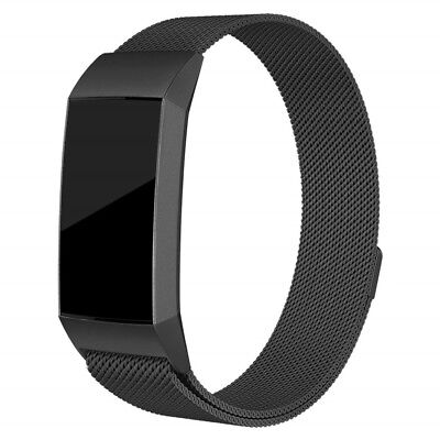 Milanese Stainless Steel Magnetic Watch Band Strap for Fitbit Charge 3 - S Size